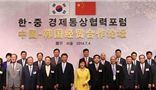 Chairman Wang Wenyin attended the China-South Korea economic and trade forum