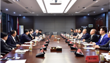 Wang Yuxiang, Vice mayor of Guiyang met with Amer International Group's chairman Wang Wenyin and the delegation