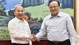 新疆维吾尔自治区党委副书记、区政府主席雪克来提·扎克尔亲切会见集团董事局主席王文银